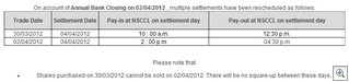 Settlement Dates